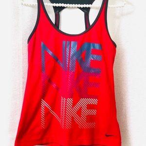 Nike bra tank workout top size M